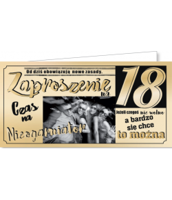 Zaproszenie na 18-tkę ZAB21