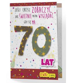 Kartka na 70 urodziny...