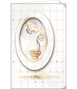 Kartka na Chrzest św CHP4