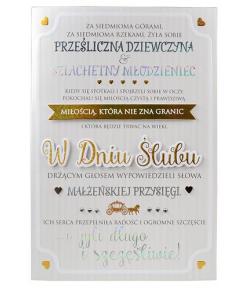 Kartka na ślub z ciekawymi...