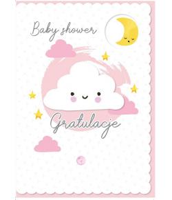 Kartka Baby Shower różowa...