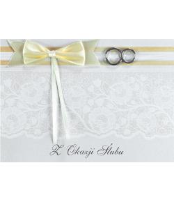 Kartka na ślub z obrączkami...