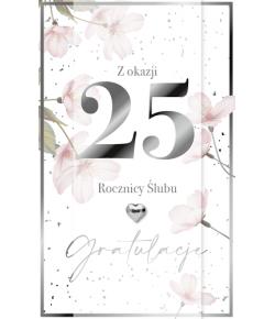 Kartka na 25 rocznicę ślubu...