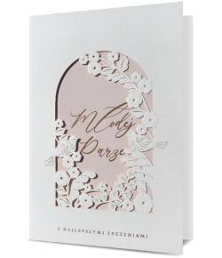 Kartka na ślub elegancka...