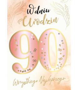 Kartka z okazji 90 urodzin...