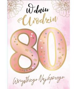 Kartka z okazji 80 urodzin...