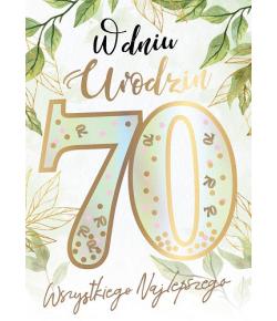 Kartka z okazji 70 urodzin...