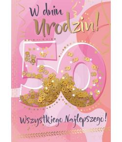 Kartka z okazji 50 urodzin...