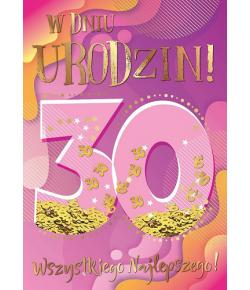 Kartka z okazji 30 urodzin...