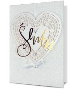 Kartka ślubna pięknie...