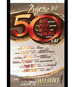 Kartka na 50 urodziny ST03