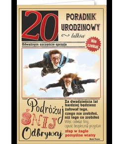 Kartka na 20 urodziny U 70