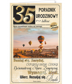 Kartka na 35 urodziny U 74