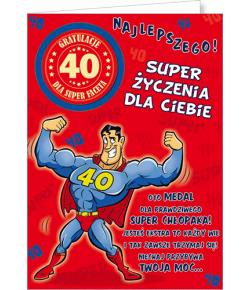 Kartka na 40 urodziny Party05