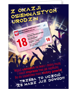 Kartka na 18-tkę Party15