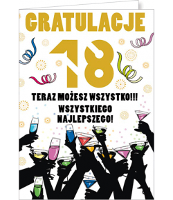 Kartka na 18-tkę Party16