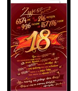 Kartka na 18-te urodziny ST05