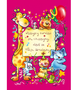 Kartka Urodzinowa  DZ 08