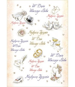 Kartka ślubna SL 12