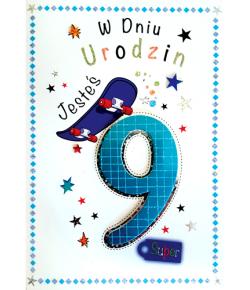 Kartka na 9 urodziny M 524