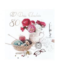 Kartka na 80 urodziny M645