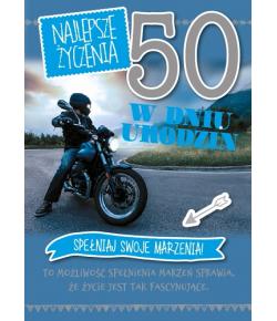 Kartka na 50-te urodziny GM...