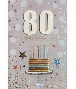 Kartka na 80-te urodziny M 592
