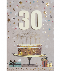 Kartka na 30-te urodziny M 595