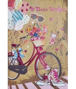 Kartka urodzinowa z rowerem...