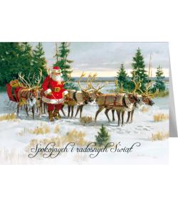 Kartka świąteczna retro bez...