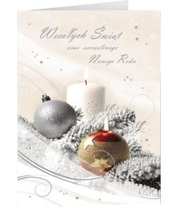Stroik świąteczny kartka z...