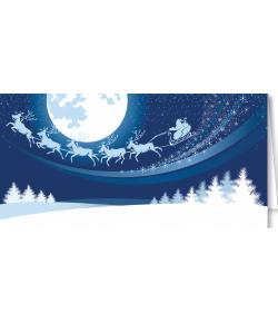 Pejzaż zimowy z Mikołajem...