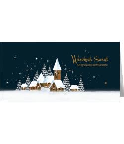 Pejzaż świąteczny kartka z...