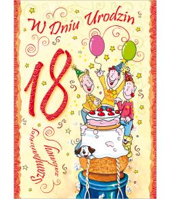 Kartka na 18-tkę GI 07