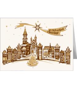 Pejzaż miejski świąteczny,...