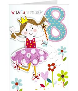 Kartka na 8 urodziny dla...