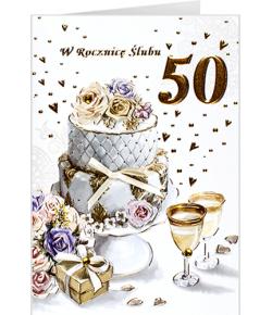 Rocznica ślubu 50 złote...