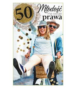 Kartka na 50 urodziny dla...