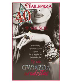 40 urodziny kartka dla...