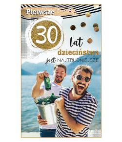 30 urodziny kartka dla...